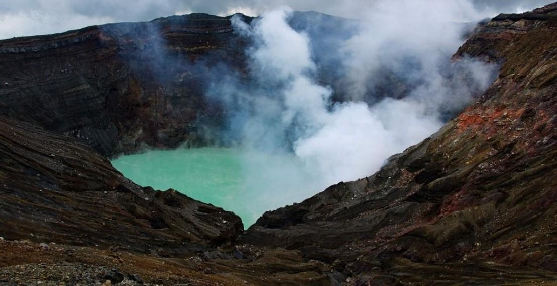 Извержение вулкана в Японии