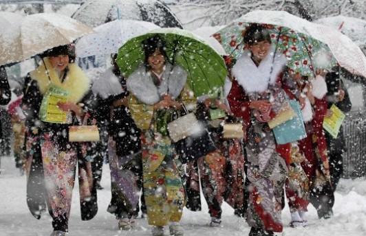 В Японии погибло несколько человек из-за сильного снегопада