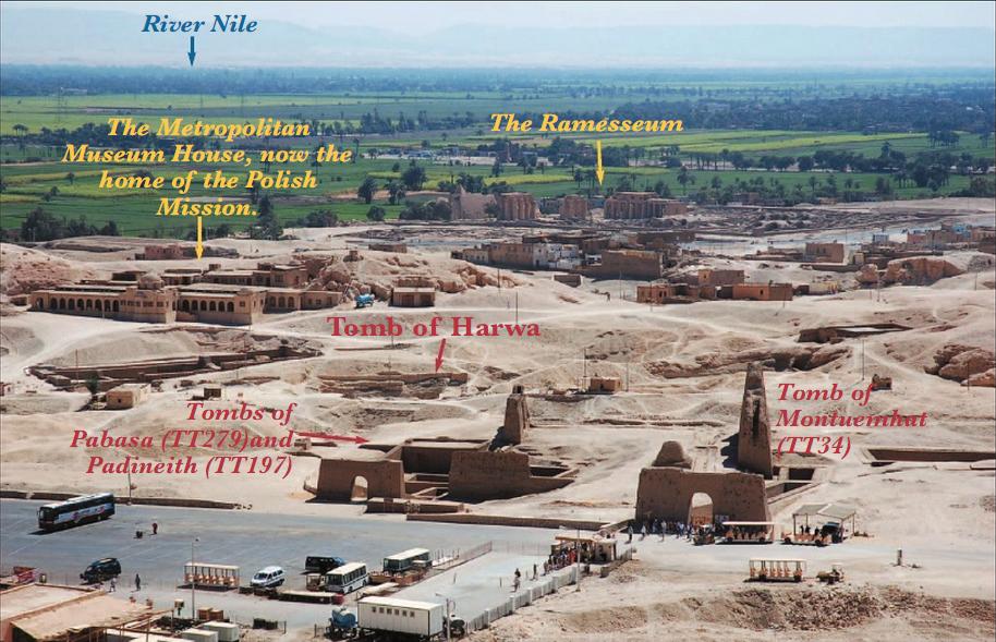 Эль-Гурна, место раскопок