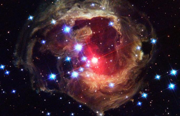 Фотоснимок светового эха от звезды Единорога