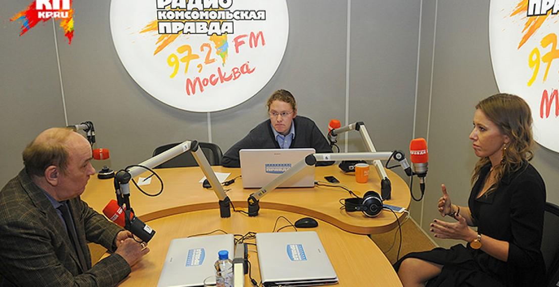 Ксения Собчак и Виктор Баранец говорят об объективной журналистике. Видео