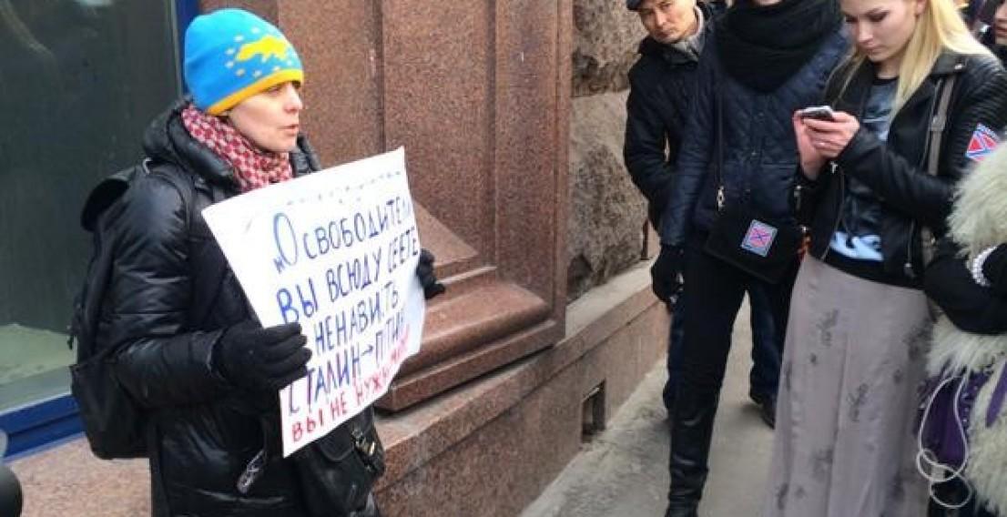 В Москве задержали шесть человек за одиночные пикеты против Путина