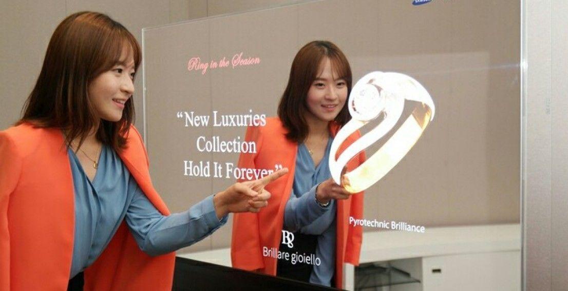 Samsung представила первые в мире зеркальные и прозрачные OLED–панели