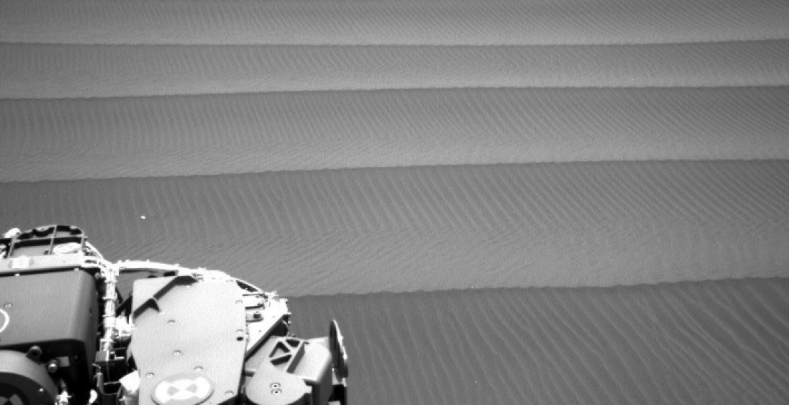 Фото: Песчаные дюны на поверхности Марса